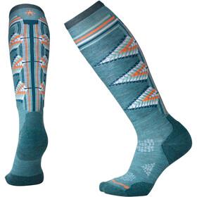Smartwool PhD Ski Light Pattern Socks Women Mediterranean Green